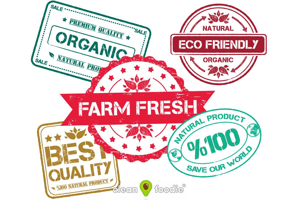 farm fresh organic label