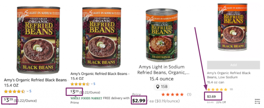 Amys Refried Beans Lowest Price