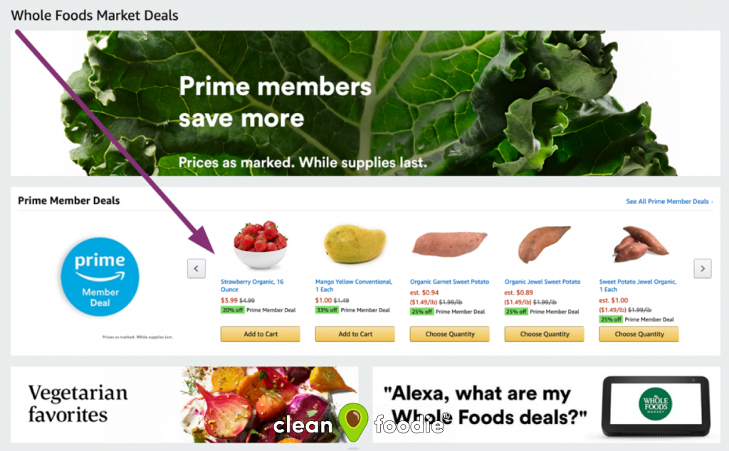Amazon Prime Whole Foods Deals