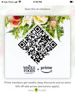 Prime Whole Foods QR Code