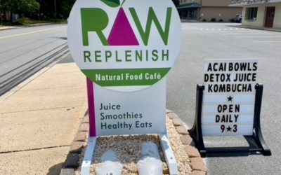 Raw Replenish Sign